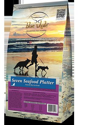 Seven Seafood Platter.Natural Dry Cat Food